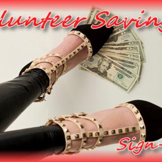 Volunteer Savings - Sign Up